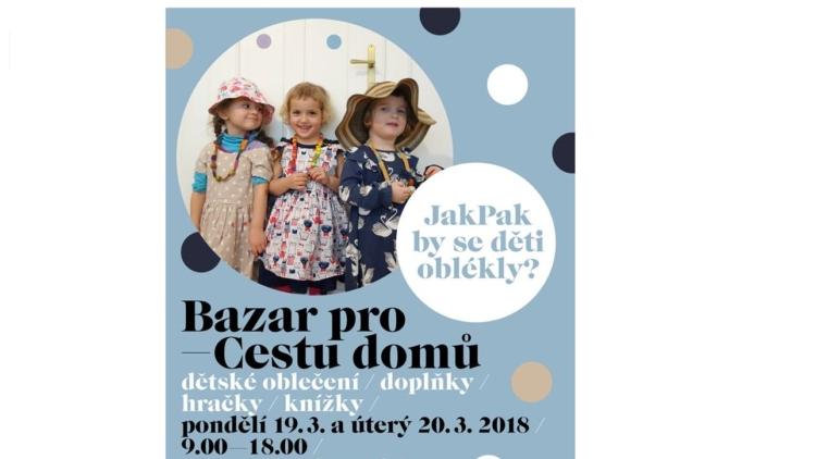 Bazar dětského oblečení a doplňků pro Cestu domů