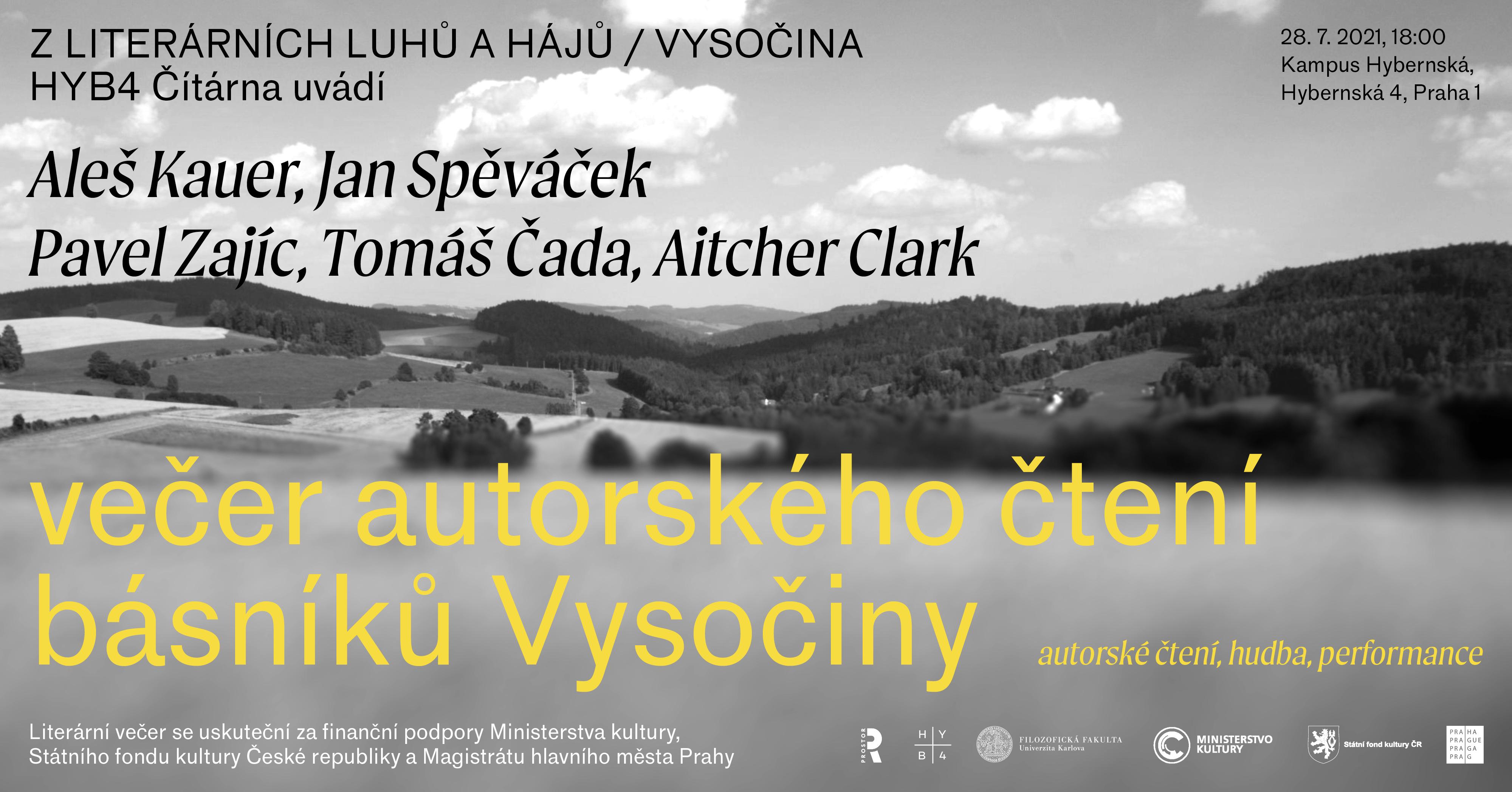 HYB4 ČÍTÁRNA: Z literárních luhů a hájů – Vysočina